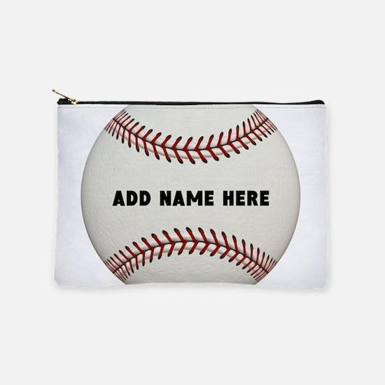 Customize Baseball Name Makeup Pouch