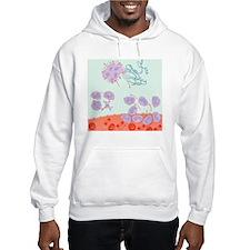 Human immune response, artwork - Hoodie