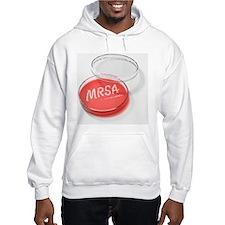 MRSA being cultured in a Petri dish - Hoodie