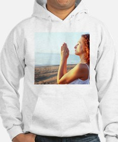Thoughtful woman meditating - Hoodie