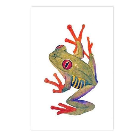 """""""Red-eyed tree Frog"""""""" Postcards (Package of 8)"""