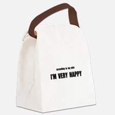 Wife Happy Canvas Lunch Bag