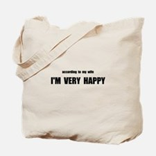 Wife Happy Tote Bag