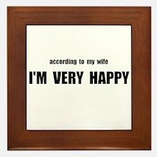 Wife Happy Framed Tile