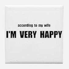 Wife Happy Tile Coaster