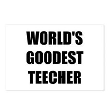 Worlds Goodest Teacher Postcards (Package of 8)