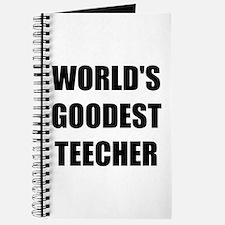 Worlds Goodest Teacher Journal