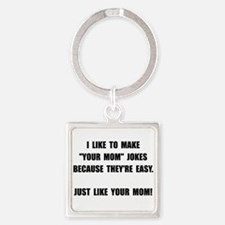 Your Mom Joke Square Keychain