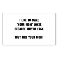 Your Mom Joke Decal