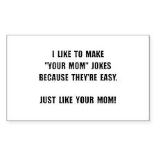 Your Mom Joke Decal