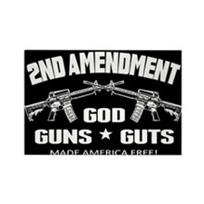 God Guns Guts Rectangle Magnet