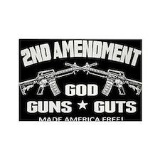 God Guns Guts Rectangle Magnet