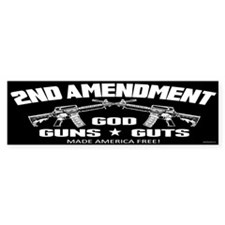 God Guns Guts Bumper Sticker