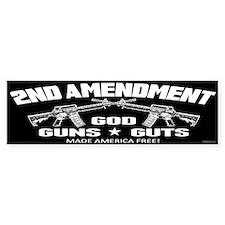 God Guns Guts Car Sticker