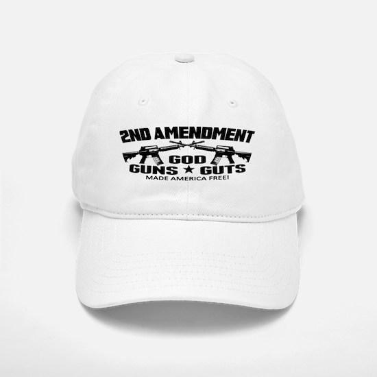 God Guns Guts Baseball Baseball Cap