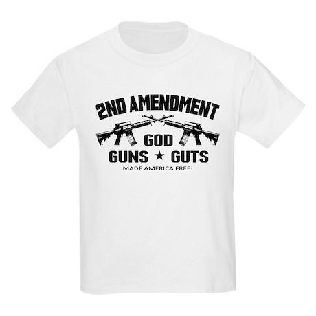 God Guns Guts Kids Light T-Shirt