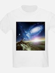 Colliding galaxies, artwork - T-Shirt