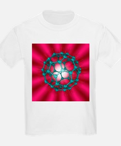 Buckminsterfullerene molecule, artwork - T-Shirt