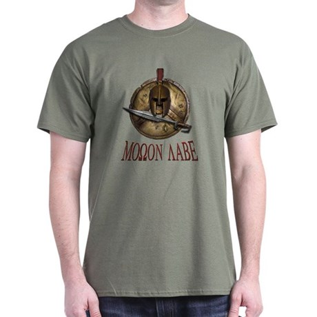 Molon Labe Spartan w Sword Dark T-Shirt
