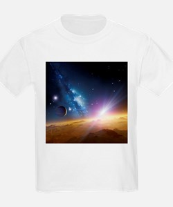 Extrasolar gas giant planet, artwork - T-Shirt