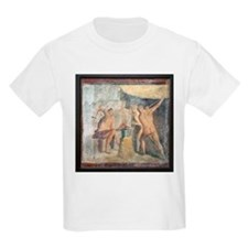 Forge of Hephaistos, Roman fresco - T-Shirt