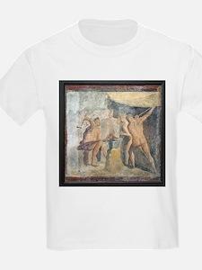 Forge of Hephaistos, Roman fresco - T-Shirt