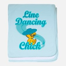 Line Dancing Chick #3 baby blanket