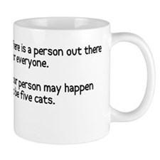 Your person may be five cats Small Mug