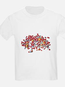 Insulin molecule, computer artwork - T-Shirt