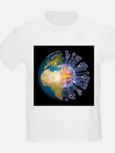 Global flu pandemic, artwork - T-Shirt