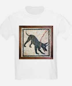 Roman guard dog mosaic - T-Shirt