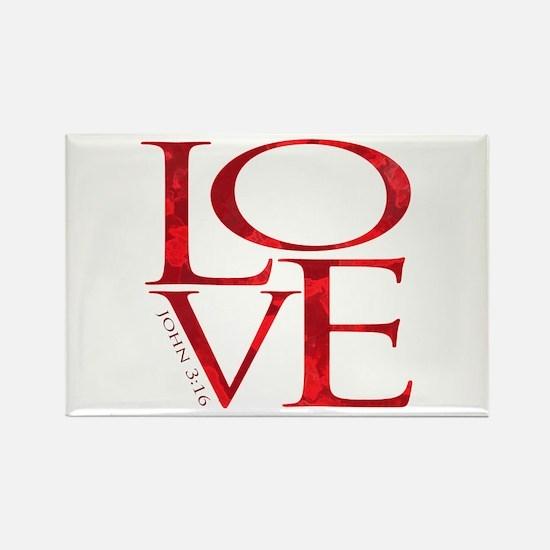 Love - John 3:16 Rectangle Magnet (100 pack)