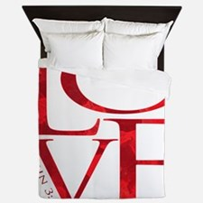 Love - John 3:16 Queen Duvet