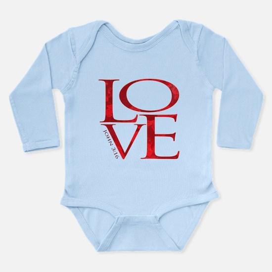 Love - John 3:16 Long Sleeve Infant Bodysuit