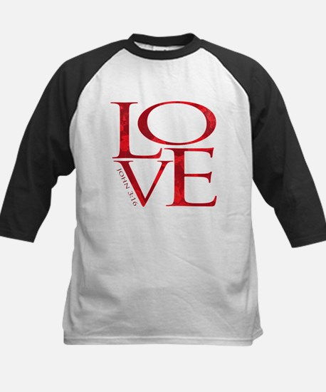 Love - John 3:16 Kids Baseball Jersey