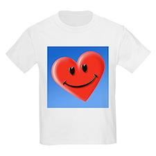 Smiley heart face symbol - T-Shirt