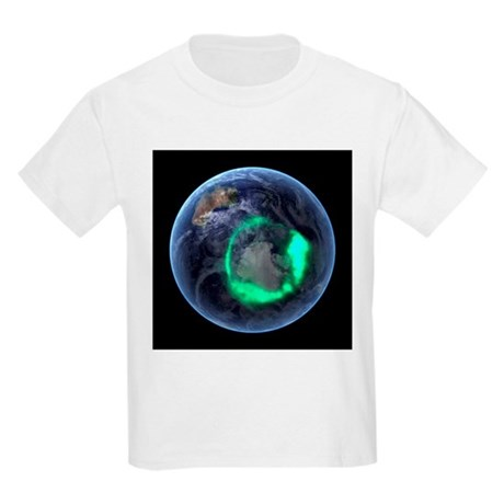 Aurora over Antarctica, satellite image - Kids Lig