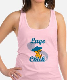 Luge Chick #3 Racerback Tank Top
