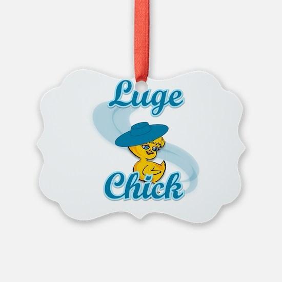 Luge Chick #3 Ornament