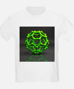 Buckyball molecule C60, artwork - T-Shirt