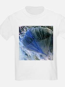 Desert alluvial fan, satellite image - T-Shirt