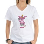 OES Easter Bunny Women's V-Neck T-Shirt