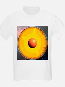 Earth's internal structure - T-Shirt