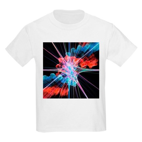 Nerve cell and DNA, artwork - Kids Light T-Shirt