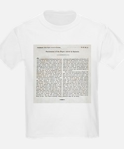 Punishment of Slaves text - T-Shirt