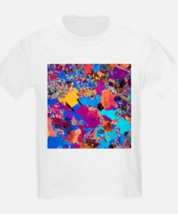 Polarised LM of thin section of granite - T-Shirt