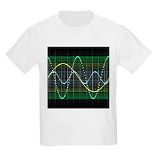 Sound wave, computer artwork - T-Shirt
