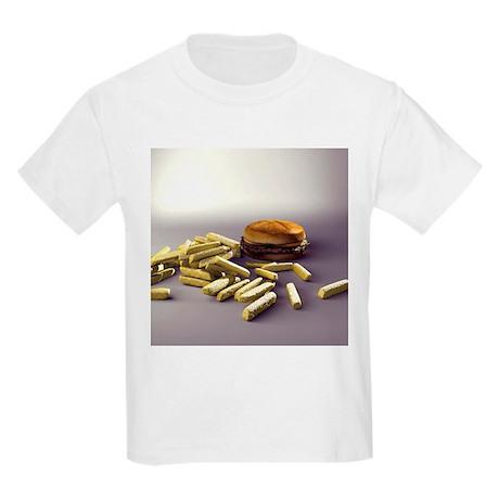 Burger and chips, computer artwork - Kids Light T-