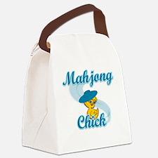 Mahjong Chick #3 Canvas Lunch Bag