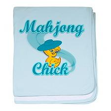 Mahjong Chick #3 baby blanket